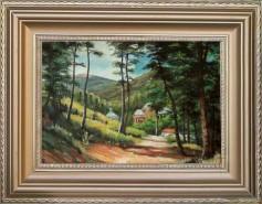 Picturi cu peisaje Peisaj cu manastire