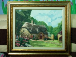 Picturi cu peisaje Casuta din povesti