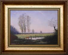 Picturi cu peisaje Ceata matinala