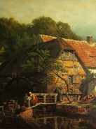 Picturi cu peisaje Moara de apa din tinutul vestic