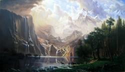 Picturi cu peisaje Sierra nevada