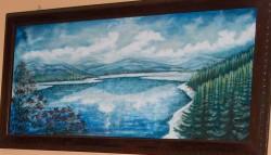 Picturi cu peisaje Oglinda lacului