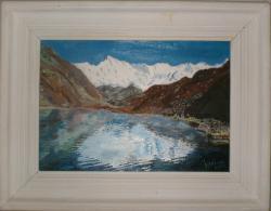 Picturi cu peisaje Munti si zapada