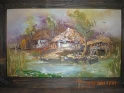 Picturi cu peisaje Barci la mal
