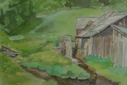 Picturi cu peisaje Moara de apa; vizimalom