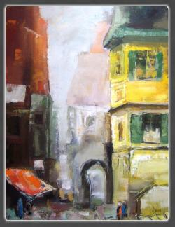Picturi cu peisaje Dimineata urbana