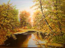 Picturi cu peisaje bucuriile toamnei 3 .