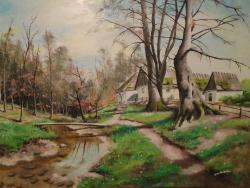 Picturi cu peisaje peisaj rustic .....