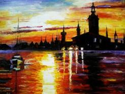 Picturi cu peisaje Castel-pictura ulei