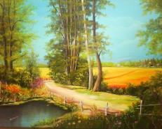 Picturi cu peisaje Drum de tara 2