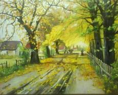 Picturi cu peisaje Iz de toamna