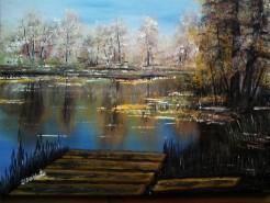 Picturi cu peisaje Langa ponton