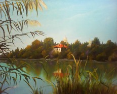 Picturi cu peisaje Manastirea caldarusani