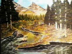 Picturi cu peisaje Muntii  nostrii