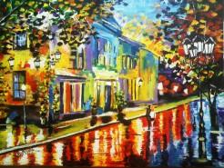 Picturi cu peisaje Pe strada in doi