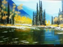 Picturi cu peisaje Peisaj de munte 2
