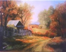 Picturi cu peisaje Peisaj de toamna 3