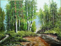 Picturi cu peisaje Peisaj de vara-chemarea padurii2