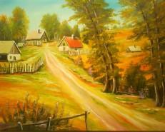 Picturi cu peisaje Peisaj rustic-peisaj de vara vandut germania