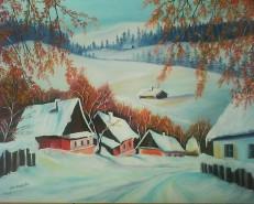 Picturi cu peisaje Peisaj rustic 3