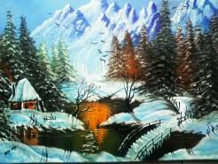 Picturi cu peisaje Visul unei nopti de iarna
