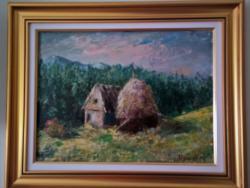 Picturi cu peisaje Casa din deal.