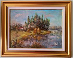 Picturi cu peisaje La margine de sat