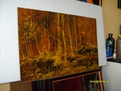 Picturi cu peisaje Padure toamna