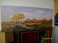 Picturi cu peisaje Sat romanesc 1