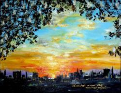 Picturi cu peisaje Sunset Under A Chestnut Tree
