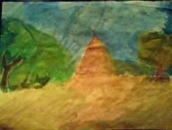 Picturi cu peisaje Campie