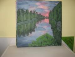 Picturi cu peisaje Lumina apusului