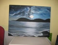 Picturi cu peisaje Luna la mare