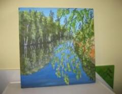 Picturi cu peisaje Padure reflectata