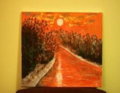 Picturi cu peisaje Un rasarit de soare 1