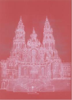 Picturi cu peisaje Santiago de Compostela - Galicia