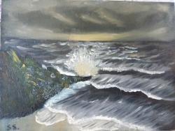 Picturi cu peisaje Night on the sea