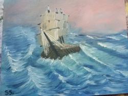 Picturi cu peisaje Storm on the sea