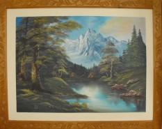 Picturi cu peisaje Lac montan