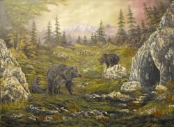 Picturi cu peisaje Pe domeniul ursilor