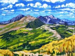 Picturi cu peisaje Muntii rodnei