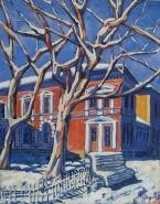 Picturi cu peisaje Platani iarna