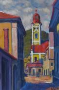 Picturi cu peisaje Strada turnului