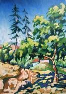 Picturi cu peisaje Vedere de pe dealul florilor