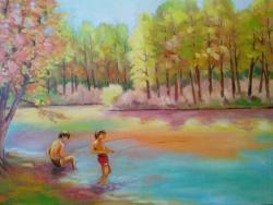Picturi cu peisaje La pescuit 2