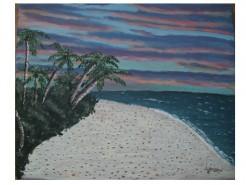 Picturi cu peisaje Apus pe insula