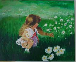 Picturi cu peisaje Cules de flori