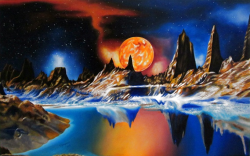 Picturi surrealism   Trappist-1e planet