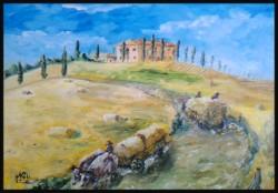 Picturi cu peisaje Carele cu fan