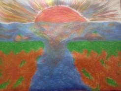 Picturi cu peisaje Apus sangeriu